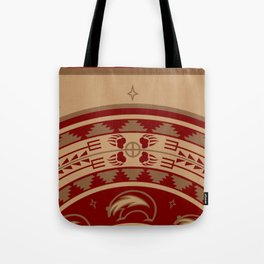 Bear Spirit (Maroon) Tote Bag
