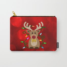 Christmas Reindeer in Lights Carry-All Pouch
