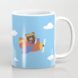 Bear in Airplane Coffee Mug