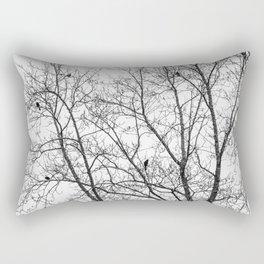 Birds in Bare Trees Rectangular Pillow