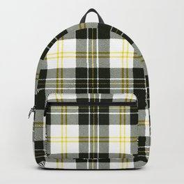 Rustic Plaid Pattern: Yellow Backpack