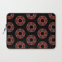 Fiery Red & Orange Circles Laptop Sleeve