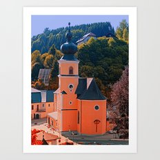 The village church of Helfenberg III | architectural photography Art Print