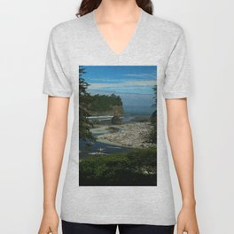 Morning At The Seaside Unisex V-Neck