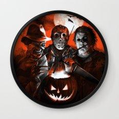 Freddy Krueger Jason Voorhees Michael Myers Super Villians Holiday Wall Clock