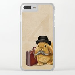 Commuter Bunny Clear iPhone Case
