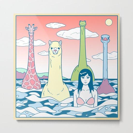 Animals & Sea Metal Print