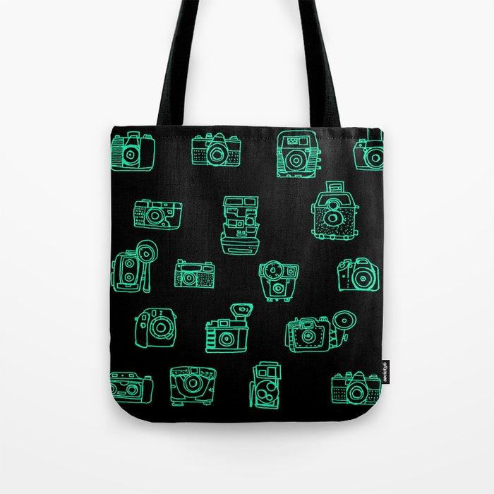 Cameras: Teal - pop art illustration Tote Bag