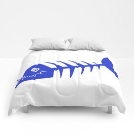 Pirate Bad Fish blue- pezcado Comforters