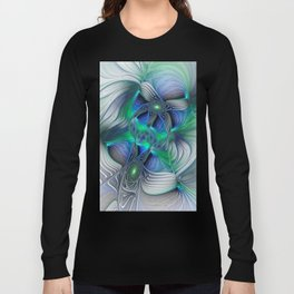Fantasy Place, Abstract Fractal Art Long Sleeve T-shirt
