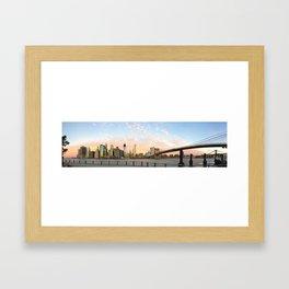 Moon over Manhattan Framed Art Print