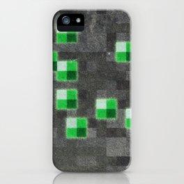 MC Emerald Block iPhone Case