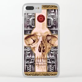 Cross Skull H.R.Giger Style Clear iPhone Case