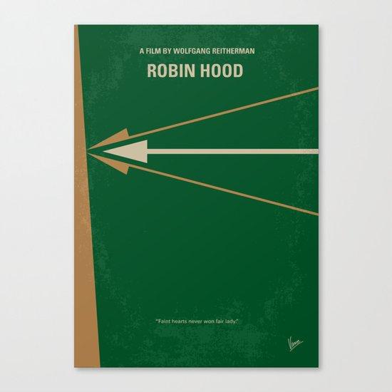 No237 My Robin Hood minimal movie poster Canvas Print
