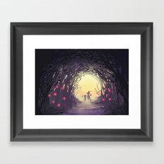 fairy forest Framed Art Print