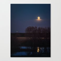 Supermoon Reflected Canvas Print
