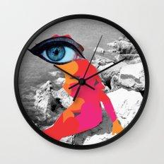 SiLuEtte 1 woman Wall Clock