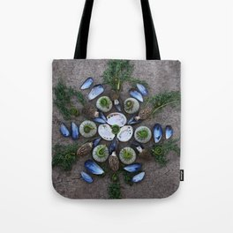 Nature Mandala: April Tote Bag