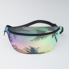Summer Dreams : Pastel Palm Trees Fanny Pack