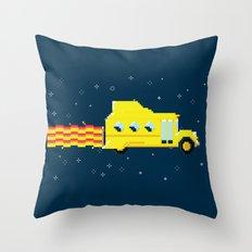 Magic Pixel Bus Throw Pillow