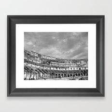 Inside of the Colosseum Framed Art Print