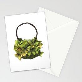 Green Butterfly Handbag Stationery Cards