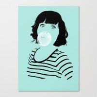 bubblegum Canvas Prints featuring Bubblegum by FalcaoLucas