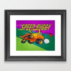 Speed Buggy Framed Art Print