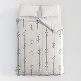 Grey, Steel: Arrows Pattern Comforters