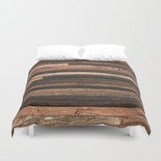 Vintage Wood Plank Duvet Cover