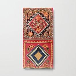 Qashqa'i Nomad Fars Southwest Persian Bag Print Metal Print