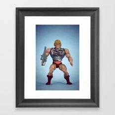He-Man Battle Damage  Framed Art Print