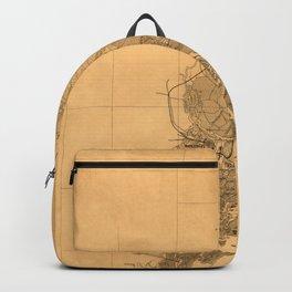 Map Of Savannah 1861 Backpack