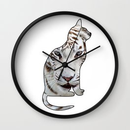 WHITE CATS Wall Clock