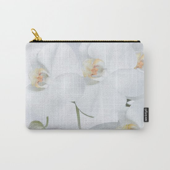 White orchids flowers pure white romantic Carry-All Pouch