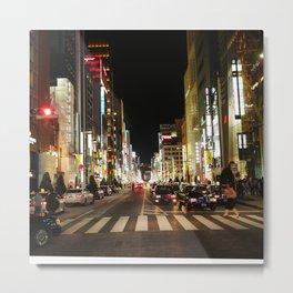 Ginza Crossing Metal Print