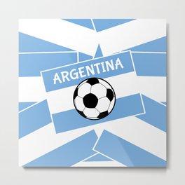 Argentina Football Metal Print