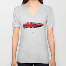 LINE OF THE MARANELLO CAR IN RED Unisex V-Neck