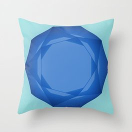 Blue Gem Throw Pillow