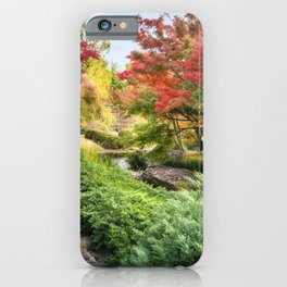 Spectacular autumn foliage at Koko-en Garden in Himeji, Japan. iPhone Case