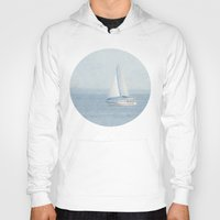 sailboat Hoodies featuring Sailboat  by Pure Nature Photos