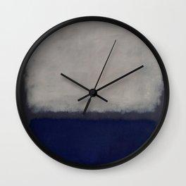 Blue and Grey - Mark Rothko Wall Clock