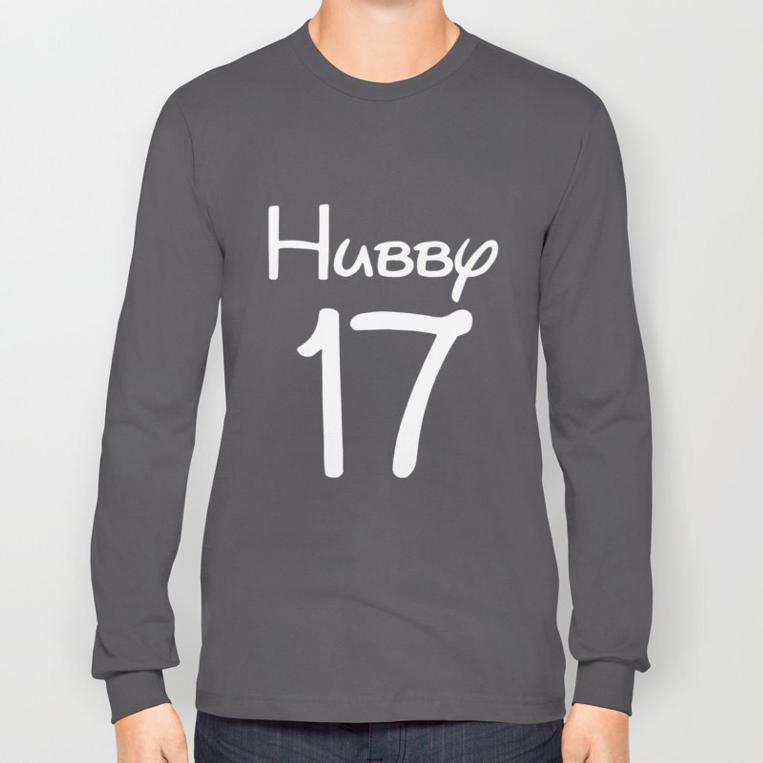 9ab3e10d5b Just Married Hubby Wifey Personalized Couple Matching Love Cute Husband T- Shirts Long Sleeve T-shirt by kizzydiggs | Society6