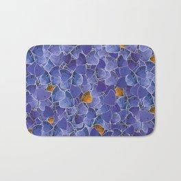 Papillons blue and orange Bath Mat