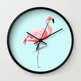 FLAMINGO MANNEQUIN Wall Clock