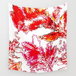Autumn stamping leaves Wall Tapestry