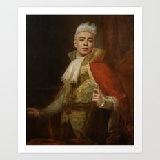 King TOP the Blonde Art Print