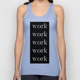 Work Graphic Tee T-Shirt Unisex Tank Top