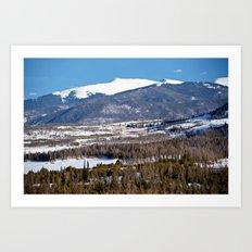 Colorado Mountain Scene near Lake Dillon Art Print