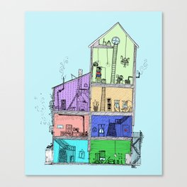 Home Sweet Home (Color) Canvas Print